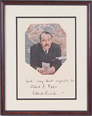 INSCRIBED photograph: Ruark, Robert