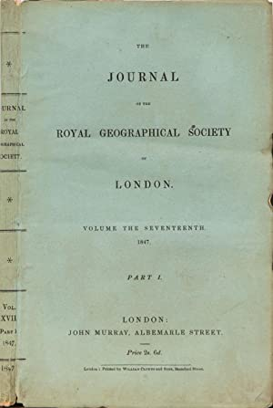 The Journal of the Royal Geographical Society of London: Royal Geographical Society