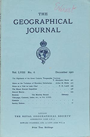 The Geographical Journal: Royal Geographical Society