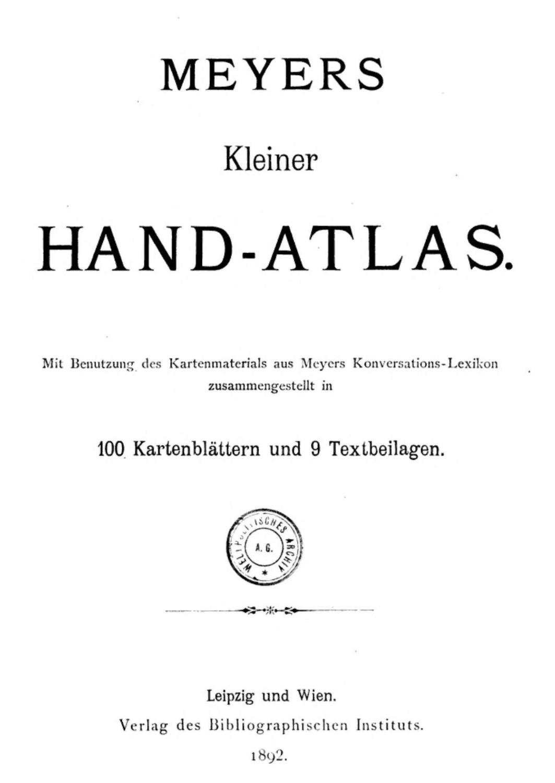 Meyers Hand Atlas - AbeBooks