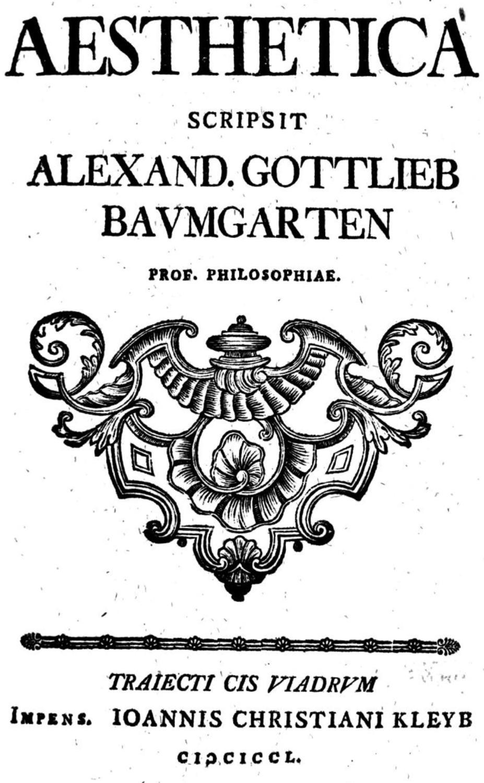 Aesthetica by Alexander Gottlieb ile ilgili görsel sonucu