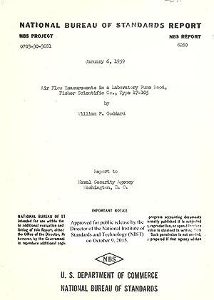 Air flow measurements in a laboratory fume: Goddard, William F.