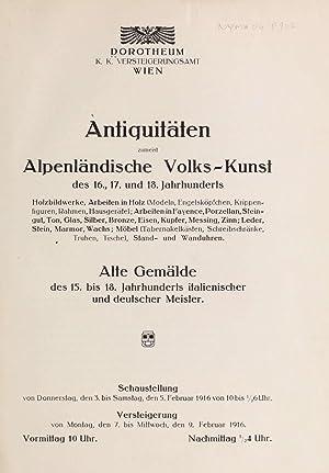 Antiquitäten Alpenländische Volks-Kunst des 16., 17. und: Dorotheum (Firm)
