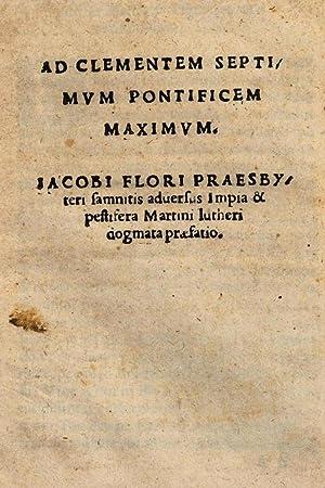 Ad Clementem septimum pontificem maximum. Iacobi Flori: Giacomo Fiori