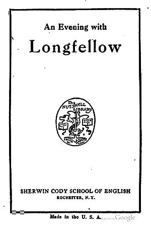 51f92a6af6ffe evening longfellow - AbeBooks