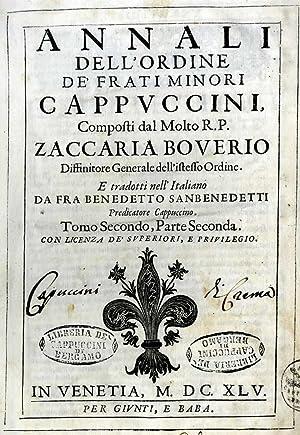 Annali dell'ordine de' frati Minori Cappuccini, t.: Zaccaria Boverio