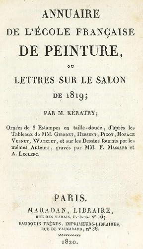 Annuaire de l'e?cole franc?aise de peinture, ou,: Ke?ratry, A. H.