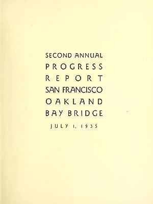 Annual progress report, San Francisco Oakland Bay