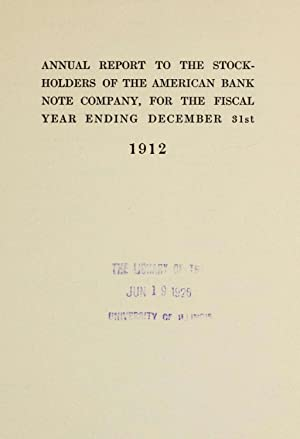 Annual report / American Bank Note Company.: American Bank Note