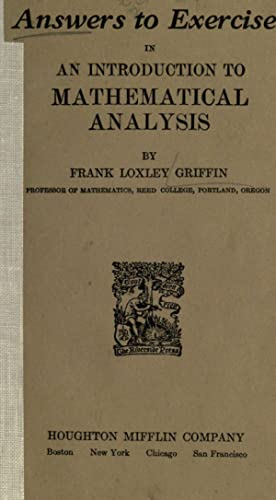 Answers to exercises in An introduction to: Griffin, Frank Loxley,