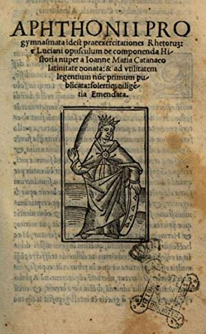 Aphthonii Progymnasmata idest praeexercitationes rhetorum & Luciani: Aphthonius