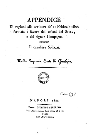 Appendice di ragioni alla scrittura de' 20: Vincenzo Catalani