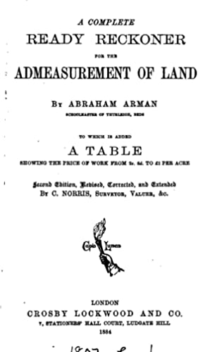 A complete ready reckoner for the admeasurement: Abraham Arman