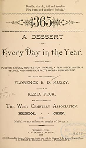 A dessert for every day in the: Muzzy, Florence Emlyn