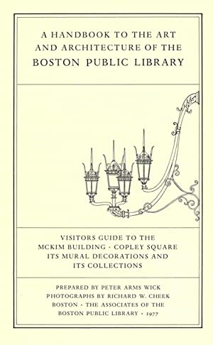 A handbook to the art and architecture: Wick, Peter A,Boston