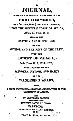 A journal, comprising an account of the: Archibald Robbins