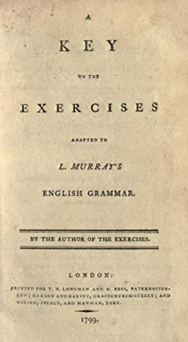 A key to the exercises : adapted: Murray, Lindley, 1745-1826