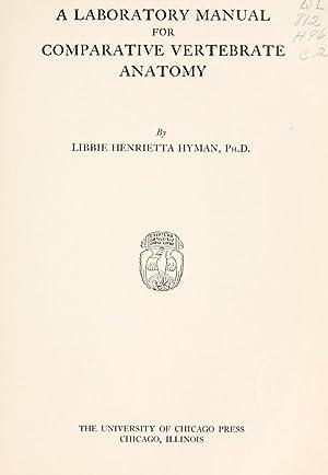 Hyman Libbie Henrietta Comparative Vertebrate Anatomy Abebooks