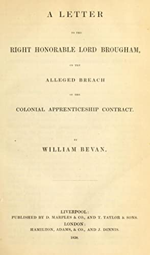 A letter to the Right Honorable Lord: Bevan, William, author,Brougham