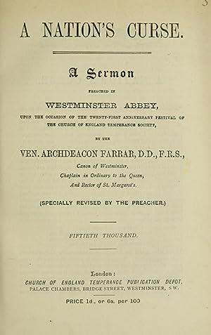 A nation's curse : a sermon preached: Farrar, F. W.
