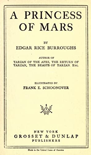 A princess of Mars [Reprint]: Burroughs, Edgar Rice,