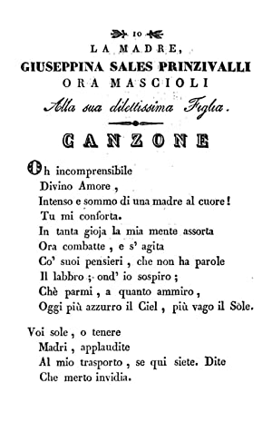 A suor Maria Serafina al secolo Elisabetta