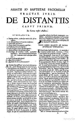 Abbatis Io. Baptistae Pacichellij I.C. artium ac: Giovanni Battista Pacichelli