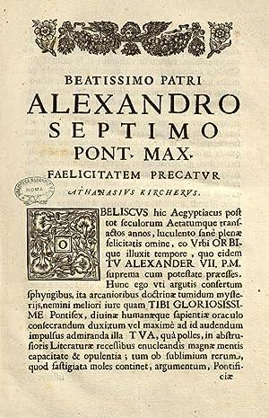 Ad Alexandrum 7. Pont. Max. obelisci Aegyptiaci: Athanasius Kircher
