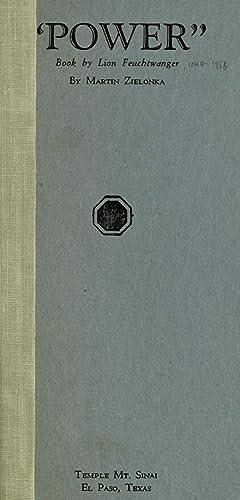 """Power"""" : book by Lion Feuchtwanger [Reprint]: Zielonka, Martin,Feuchtwanger, Lion,"""