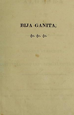 Bija Ganita: or the algebra of the: Strachey, Edward,Bh?skar?c?rya, 1114-