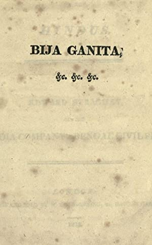 Bija Ganita: or, The algebra of the: Bhaskaracarya, b. 1114,Strachey,