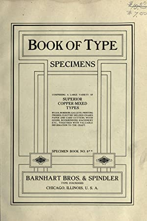 Book of type specimens. Comprising a large: Barnhart, bros. &
