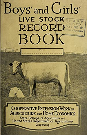 Boys' and girls' live stock record book.: United States. Department