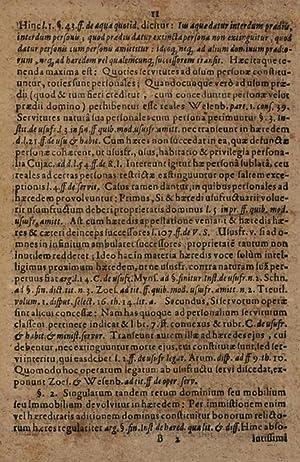 Julianea haereditatis definitio quam inter privatos parietes