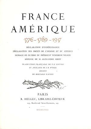 France, Amerique, 1776-1789-1917. Declaration d'independance. Declaration des: R. Hellen