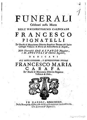 Funerali celebrati nella morte dell'eminentissimo cardinale Francesco