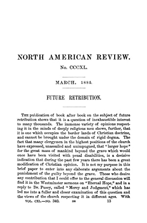 Future Retribution (1885) (Volume: 140) [Reprint]: Farrar, F. W.