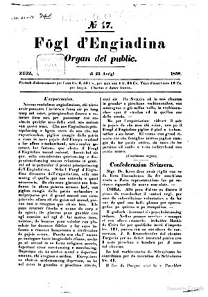 Fögl d'Engiadina organ uffiziel per las vschinaunchas