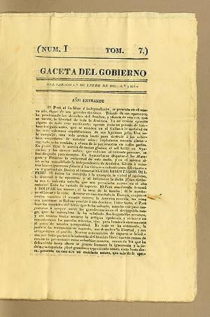 Gaceta del Gobierno de Lima independiente (1821): Unknown