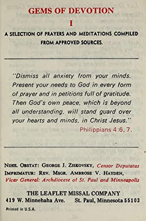 Gems of devotion. a selection of prayers: Catholic Church. Archdiocese