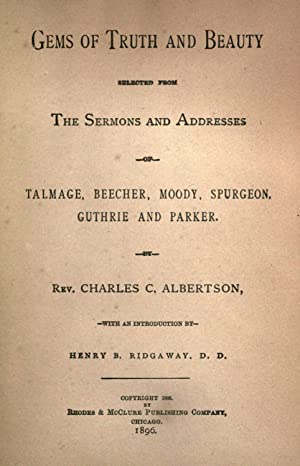 Gems of truth and beauty : selected: Albertson, Charles Carroll,