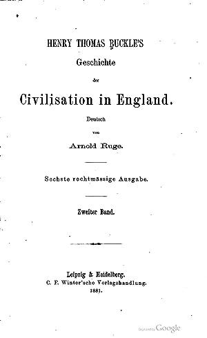 Geschichte der Civilisation in England, Volume 2: Henry Thomas Buckle