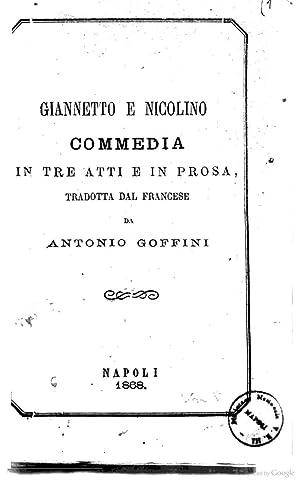 Giannetto e Nicolino commedia in tre atti: Jean Pierre Claris