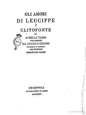 Gli amori di Leucippe e Clitofonte di