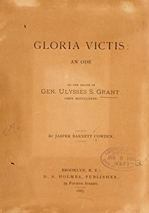 Gloria victis: an ode on the death: Cowdin, Jasper Barnett.