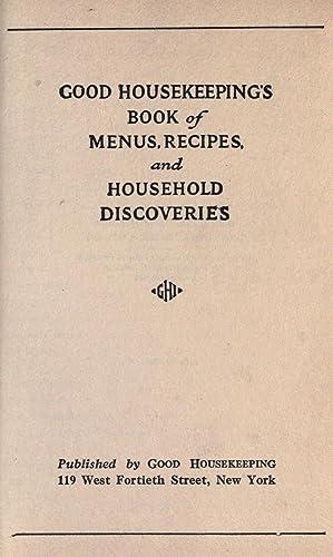 Good housekeeping's book of menus, recipes, and