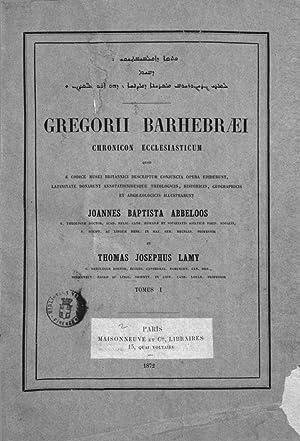 Gregorii Barhebraei Chronicon Ecclesiasticum quod e codice