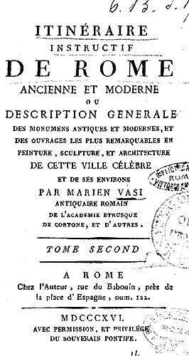 Itineraire instructif de Rome ancienne et moderne