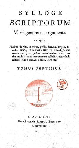 Jac. Augusti Thuani Historiarum sui temporis tomus: Jacques Auguste :