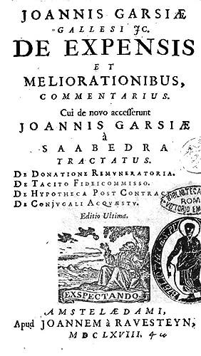 Joannis Garsi Gallesi Ic. De expensis et: Juan n. 1532